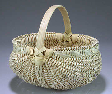8 inch white oak egg basket