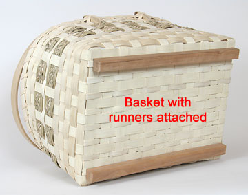 Basket with runners attached