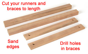 Cut your runners and braces to length