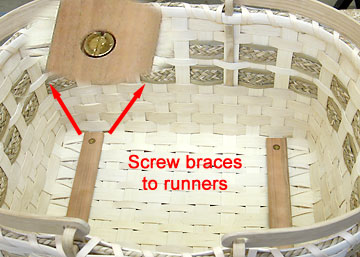 Screw braces to runners