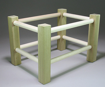 Footstool frame completed