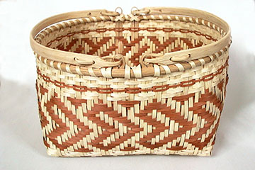 White oak basket with swing handles