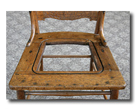 Chair with groove around opening