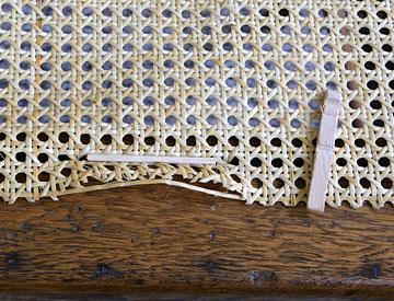 Secure webbing with spline