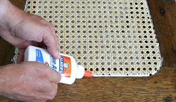 Put glue in groove