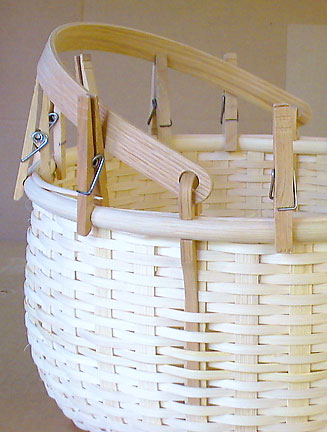 Apple Basket with Swing Handle with Rims in place