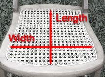 Width and Length of chair