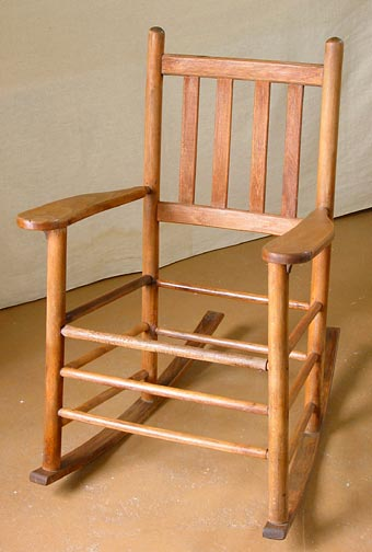 A clean rocker waiting for new bark.