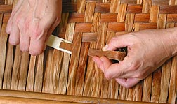 You will have to use a bone folder when  weaving the last 3 or 4 rows.