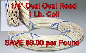 Save 50 per cent on 1/4 inch Oval Oval Reed