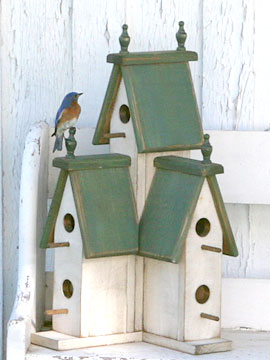 Victorian Birdhouse Woodworking Pattern