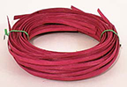 .25 lb. - 1/4 inch Flat Burgundy Dyed Reed