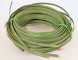 1/4 lb. - 1/4 inch Green Dyed Flat Reed