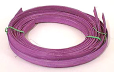 1/2 inch Flat Reed dyed Violet - 1/4 lb. coil