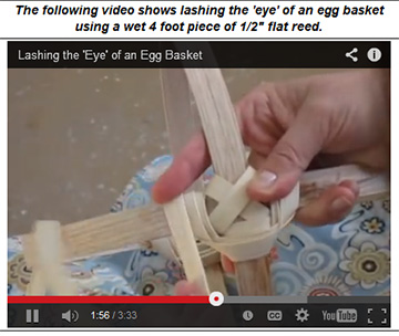 Lashing the eye of an egg basket