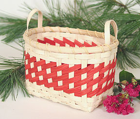 Peppermint Twist Holiday Basket Pattern
