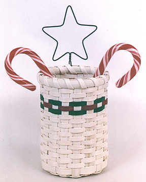 Candy Cane Basket Pattern