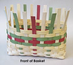 front of basket