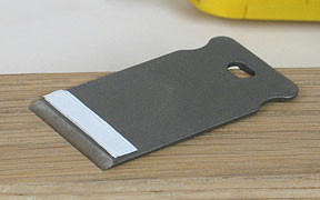 Blade with shims attached