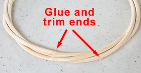 Glue ands trim ends