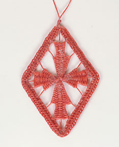Waxed Linen Ornament 2008