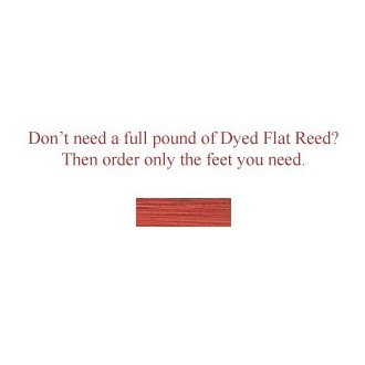 """per foot - DYED 1/4"""" Flat Cherry--Sold by the foot"""