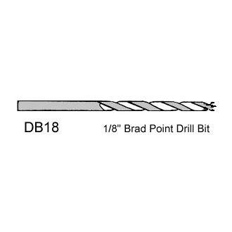 1/8 inch Brad Point Drill Bit - sold individually