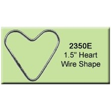 1.5 inch Heart Wire Shape