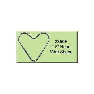 1.5 inch Heart Wire Shape