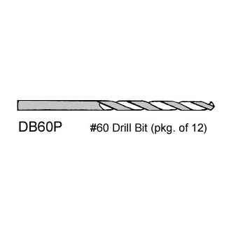 No. 60 Drill Bits - pkg. of 12