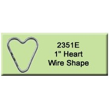 1 inch Heart Wire Shape