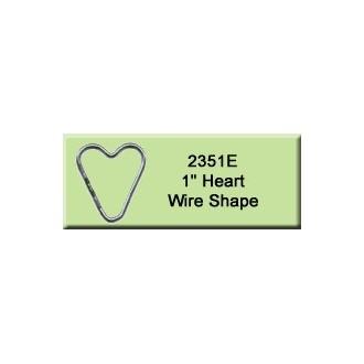 1 inch Heart Wire Shape
