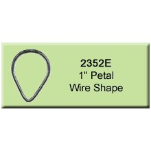 1 inch Petal Wire Shape