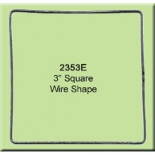 3 inch Square Wire Shape