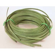 ".25 lb. - 1/4"" Flat Green DYED--1/4 lb. bundle"