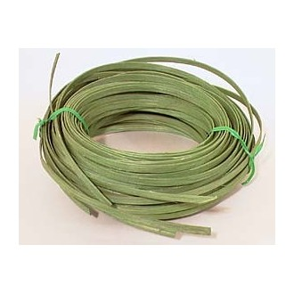".25 lb. - 1/4"" Flat Green DYED--1/4 lb. bundle"