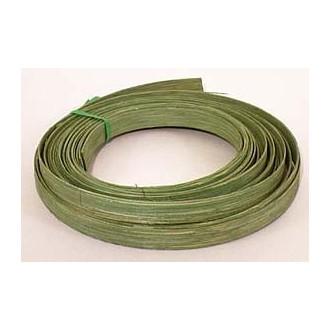 ".25 lb. - 1/2"" Flat Green DYED--1/4 lb. bundle"