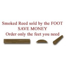 "per foot - Smoked 1/2"" Flat Oval Reed - Sold by the foot"