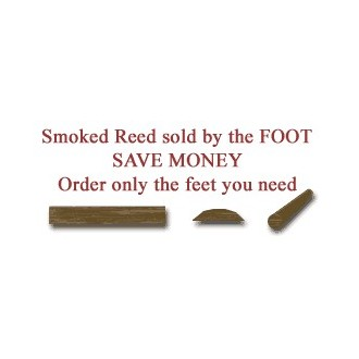 """per foot - Smoked 3/8"""" Flat Oval Reed - Sold by the foot"""