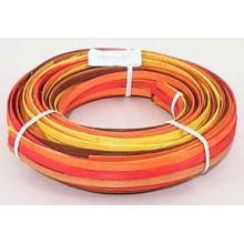 """.25 lb. - 1/4"""" Flat Harvest Mix Multi-Colors DYED--1/4 lb. bundle"""