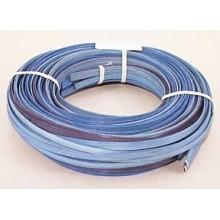 """.25 lb. - 1/4"""" Flat Blue Heather Mix Multi-Colors DYED--1/4 lb. bundle"""
