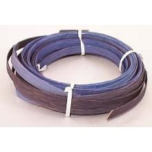""".25 lb. - 1/2"""" Flat Blue Heather Mix Multi-Colors DYED--1/4 lb. bundle"""