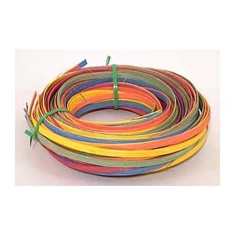 """.25 lb. - 1/4"""" Flat Pastel Mix Multi-Colors DYED--1/4 lb. bundle"""
