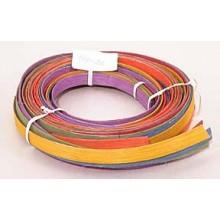 """.25 lb. - 1/2"""" Flat Pastel Mix Multi-Colors DYED--1/4 lb. bundle"""