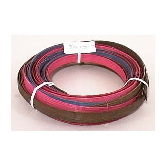 ".25 lb. - 1/2"" Flat Jewel Tones Mix Multi-Colors DYED--1/4 lb. bundle"