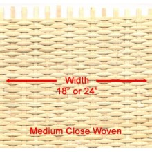 Medium Close Woven 18 inches wide - Sold by the running foot