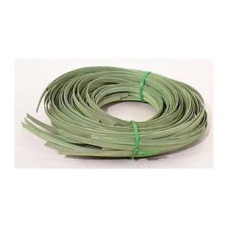 ".25 lb. - 1/4"" Flat Moss Green DYED--1/4 lb. bundle"