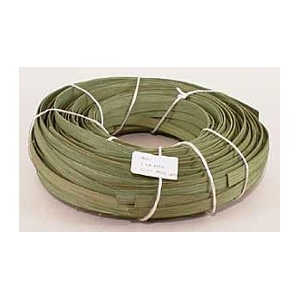 "1 lb. - 1/2"" Flat Moss Green DYED--1 lb. bundle"