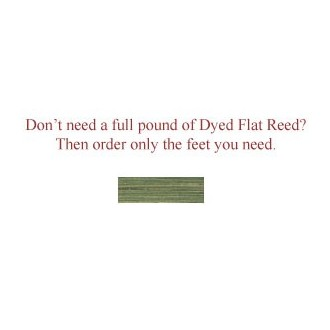 """per foot - DYED 1/4"""" Flat Moss Green - Sold by the foot"""