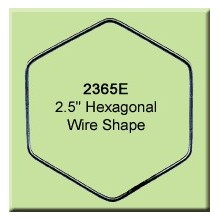 2.5 inch Hexagon Wire Shape